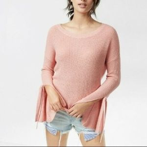 Express Open Tie Sleeve Pullover Sweater NWT